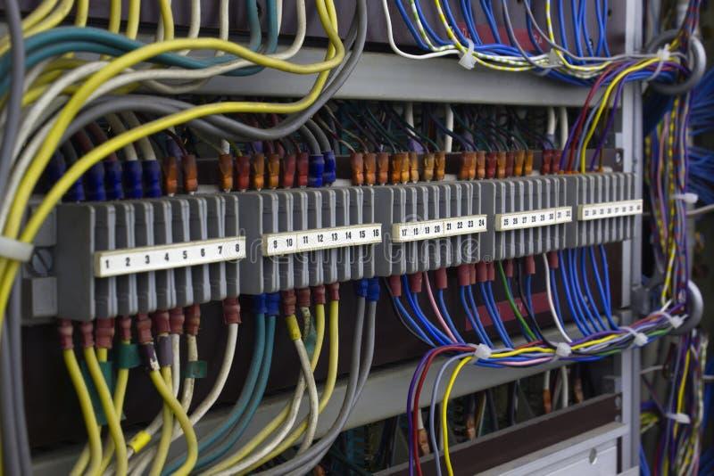 Cableado eléctrico de la vendimia foto de archivo libre de regalías