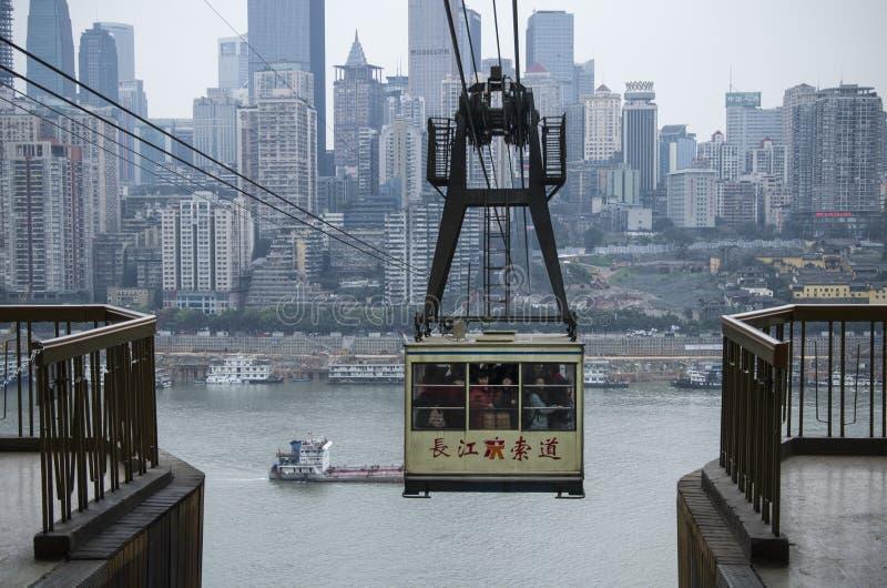 Cablecarril de China Chongqing imagen de archivo