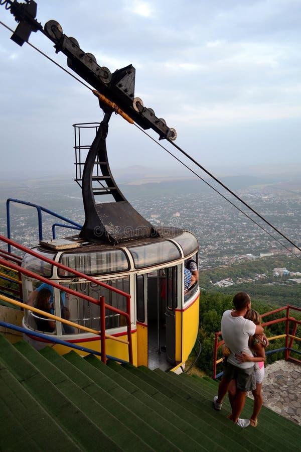 Cablecarril de la montaña de Mashuk Pyatigorsk, Rusia fotos de archivo libres de regalías