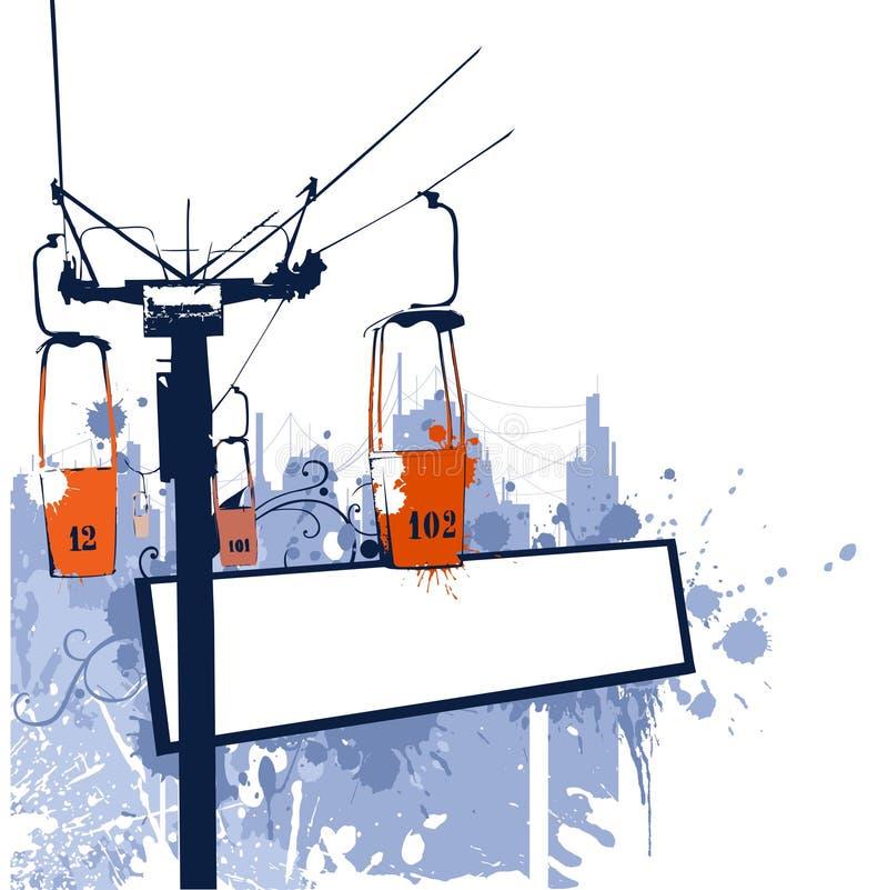 Cableroad 2 illustrazione di stock