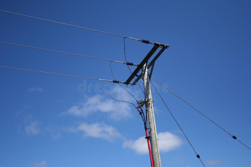 Cables électriques photographie stock