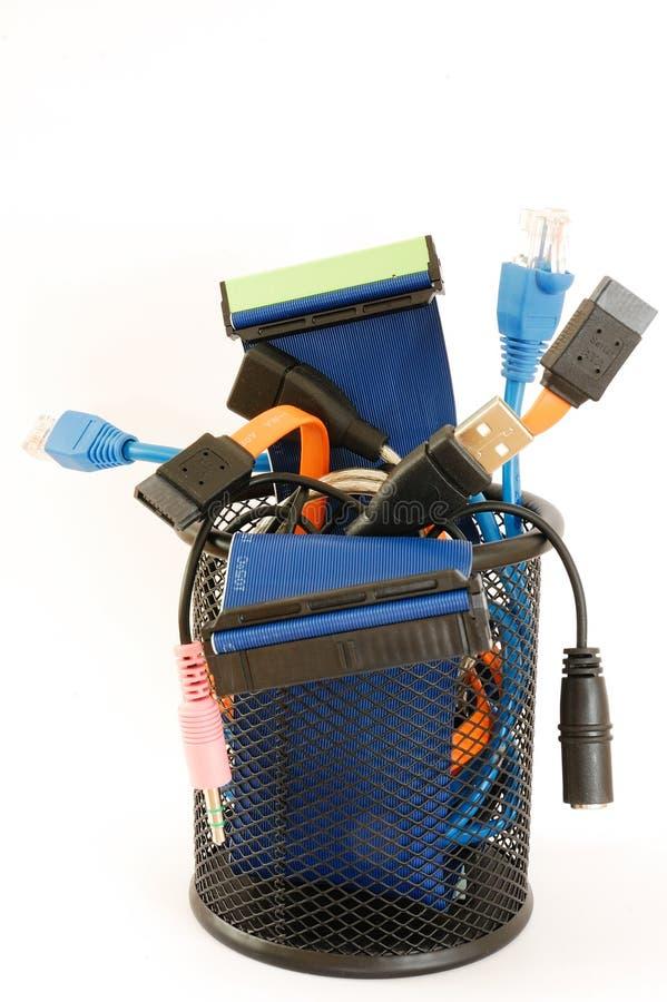 Cables 1 del ordenador foto de archivo libre de regalías