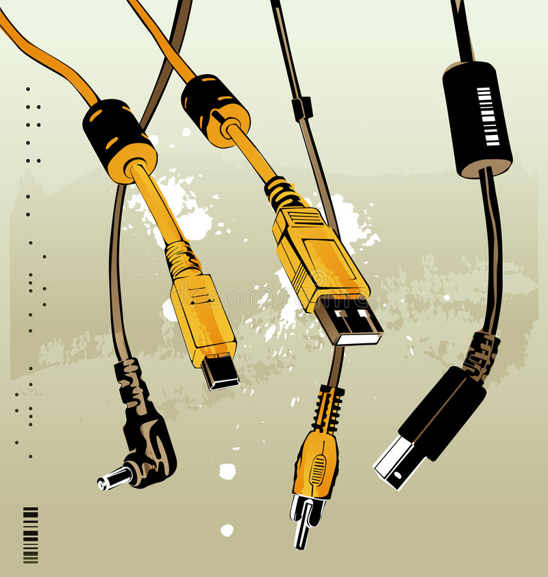 Cables stock illustration