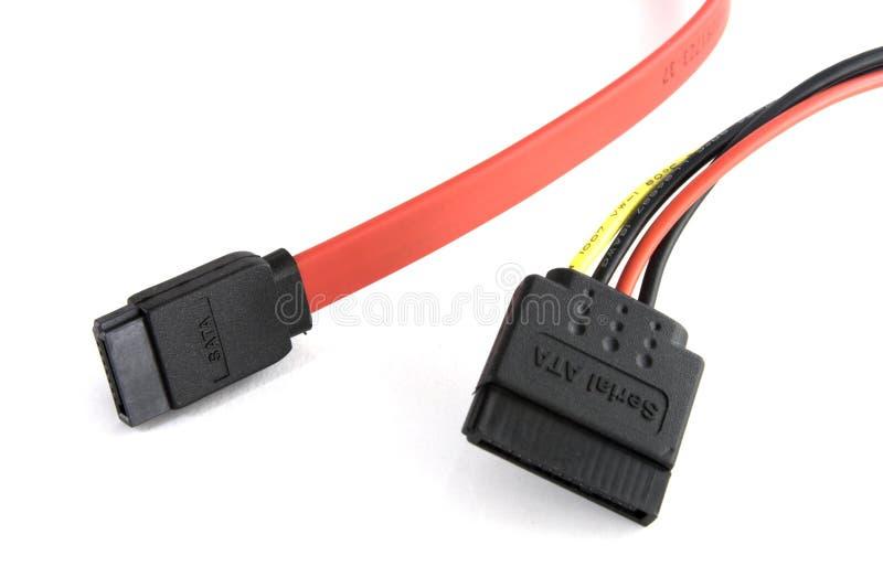 Cables ata seriales foto de archivo