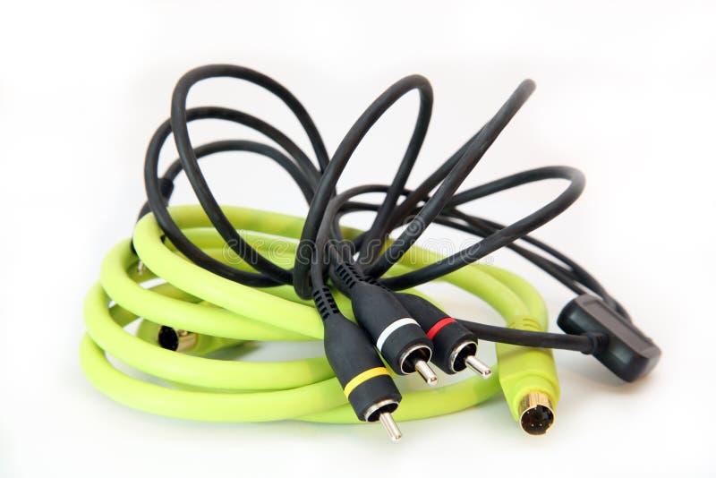 Cables audios fotos de archivo