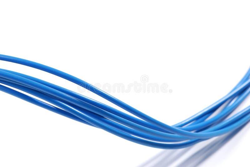 Cables azules fotos de archivo