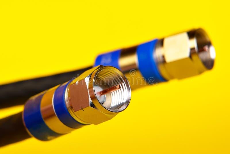 Cables coaxiles fotos de archivo libres de regalías
