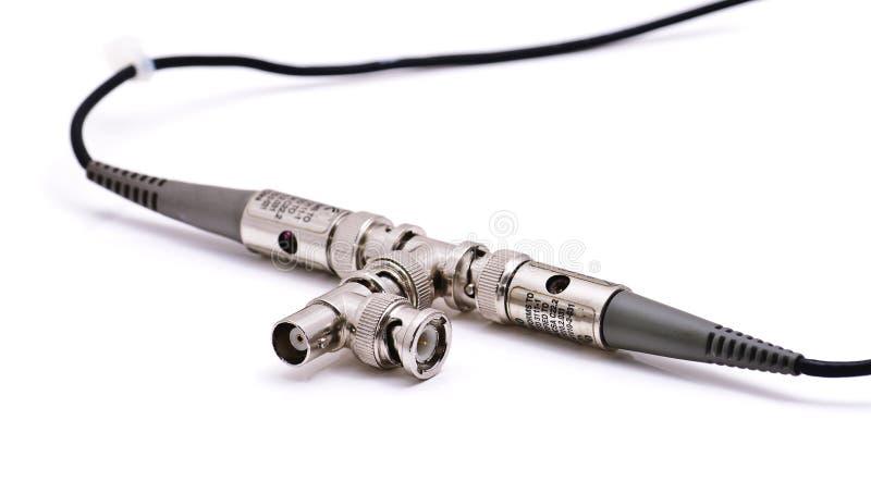 Cables con los conectores de cable foto de archivo libre de regalías