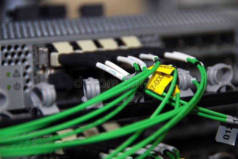 Cables de Datacenter foto de archivo libre de regalías