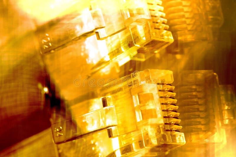 Cables De Ethernet Fotografía de archivo libre de regalías
