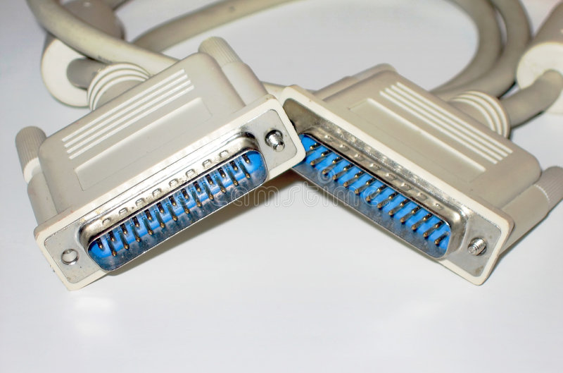 Cables De Impresora Imagenes de archivo