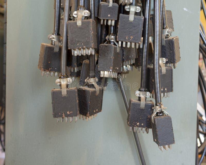 Cables de la comunicación del vintage fotografía de archivo