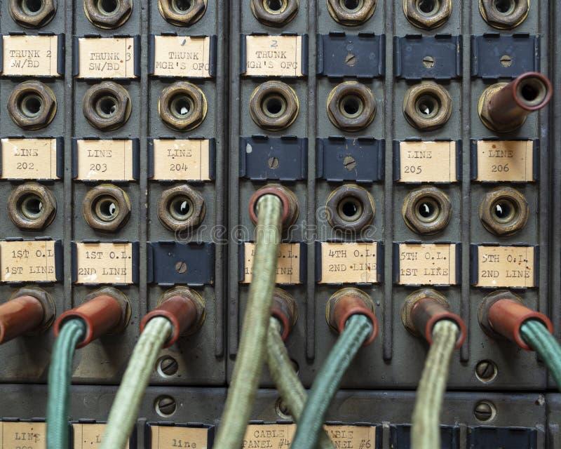 Cables de la comunicación del vintage foto de archivo