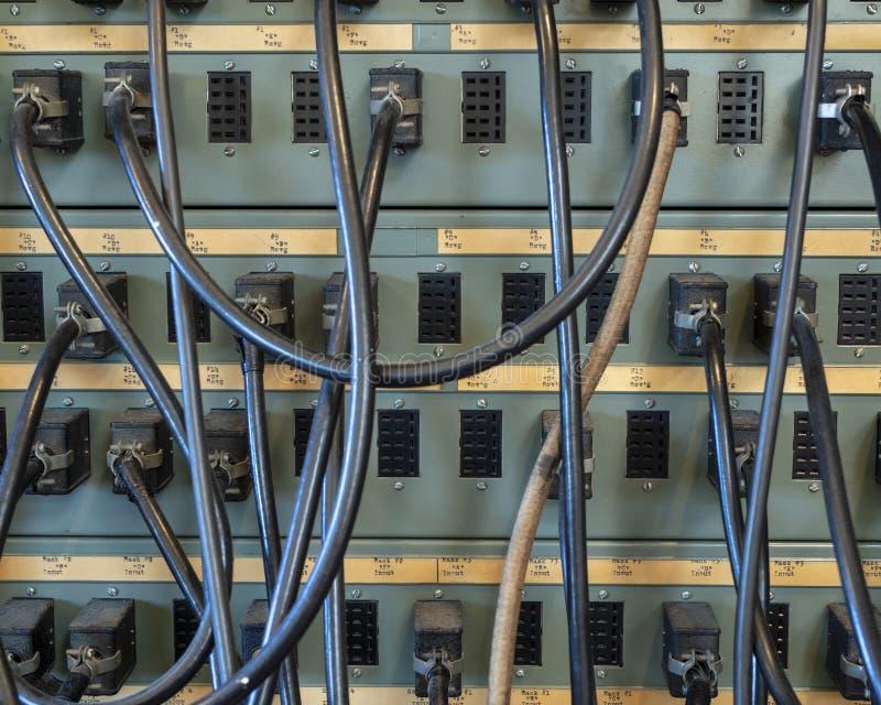 Cables de la comunicación del vintage fotografía de archivo libre de regalías