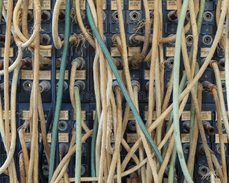 Cables de la comunicación del vintage fotos de archivo