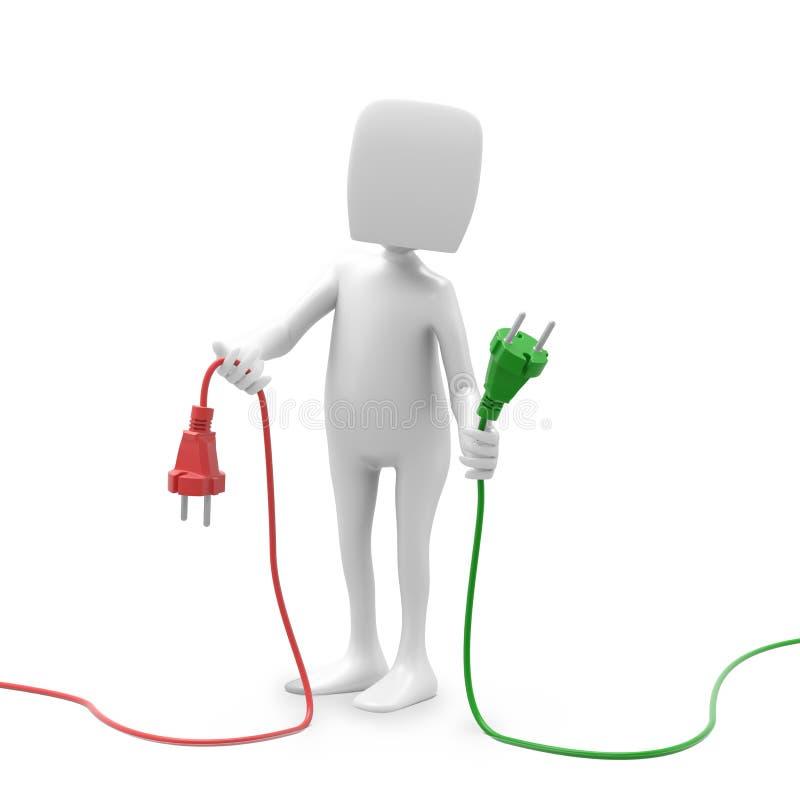 Cables de la explotación agrícola del carácter libre illustration