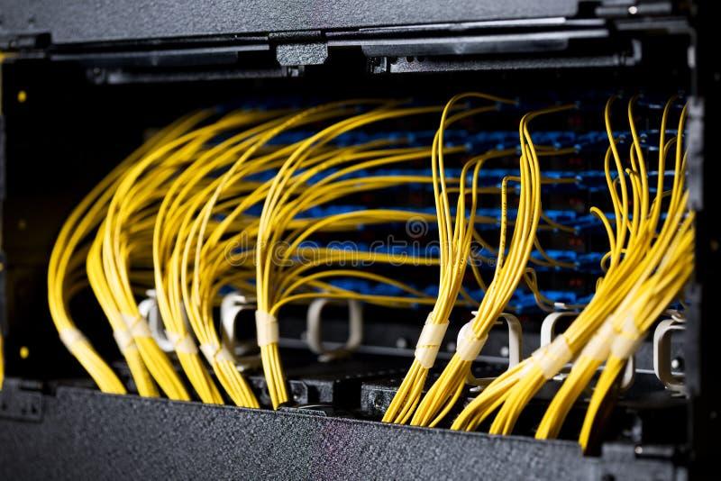 Cables de la red foto de archivo