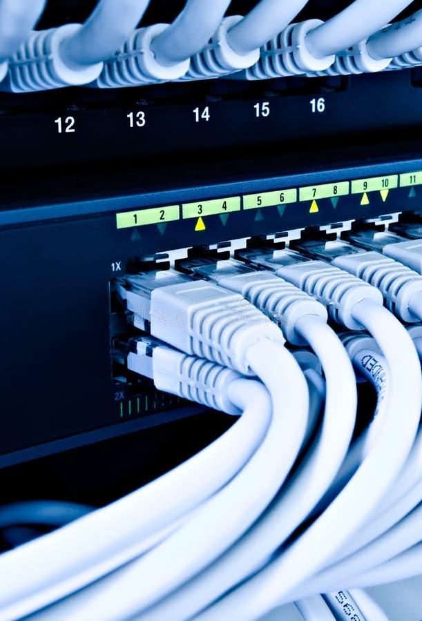 Cables de la red foto de archivo libre de regalías