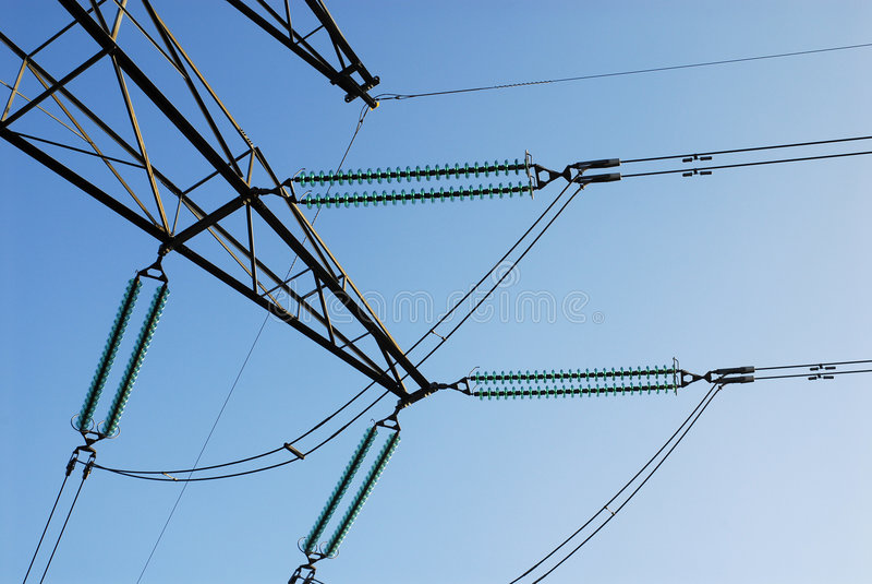 Cables de transmisión foto de archivo