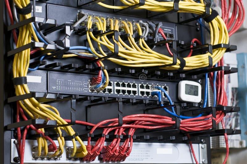 Cables del eje y de la corrección de la red