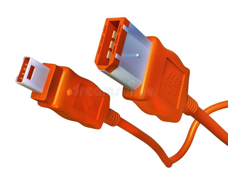 Cables del firewire imágenes de archivo libres de regalías