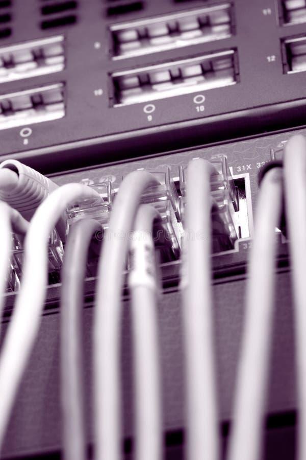 Cables del Internet imágenes de archivo libres de regalías