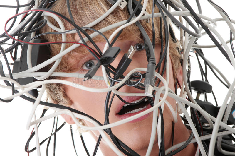 Cables del ordenador fotografía de archivo