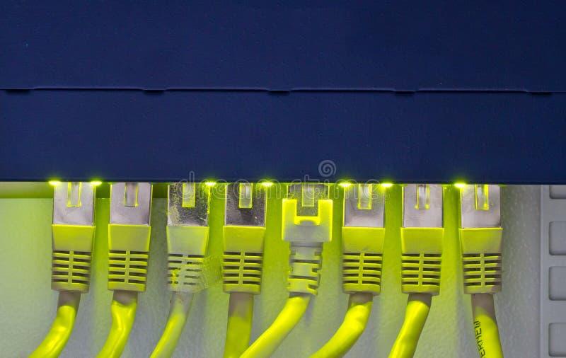 Cables del ranurador y de la red imágenes de archivo libres de regalías