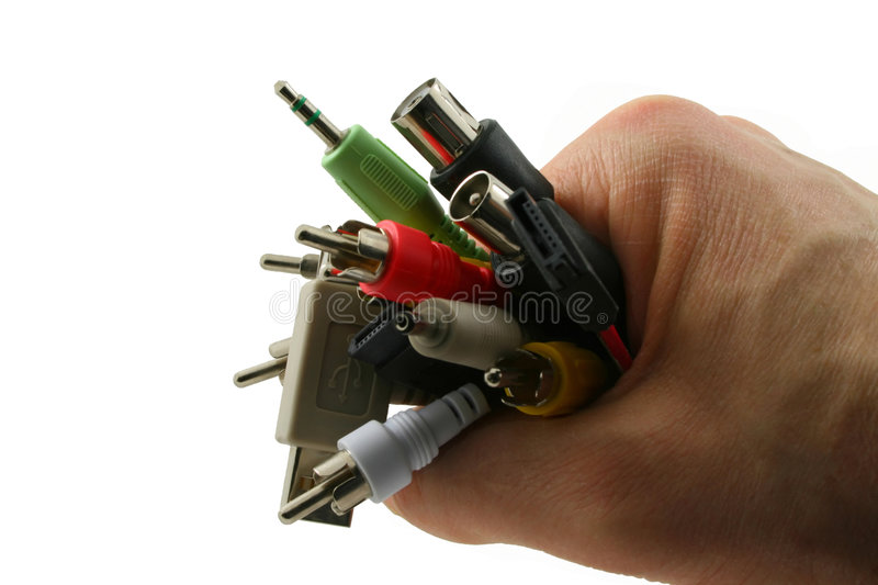 Download Cables in hand stock photo. Image of flowing, connect - 5120634