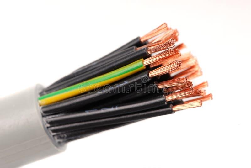 Cables numerados imagen de archivo libre de regalías