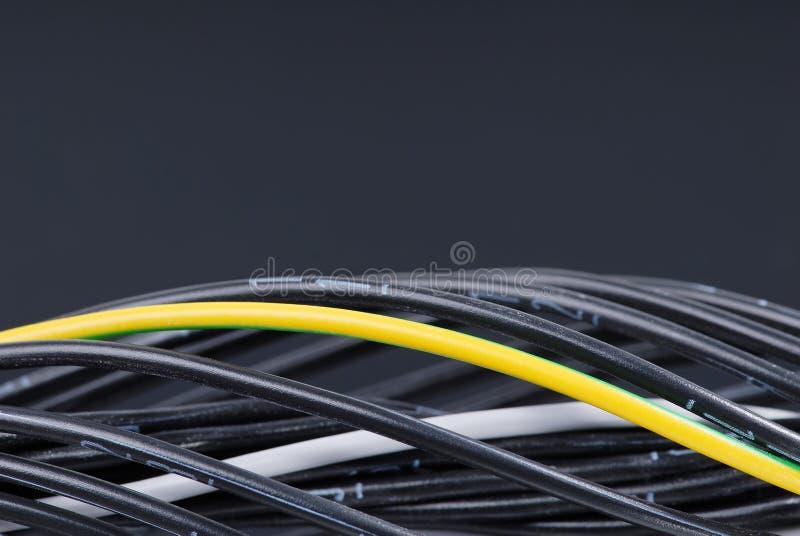 Cables numerados fotos de archivo libres de regalías
