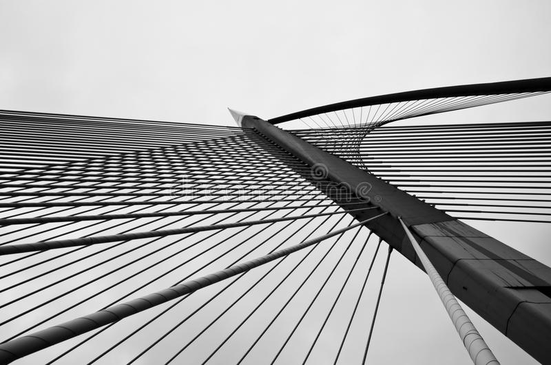 Download Cables And Poles Of Wawasan Bridge Stock Image - Image: 24025435