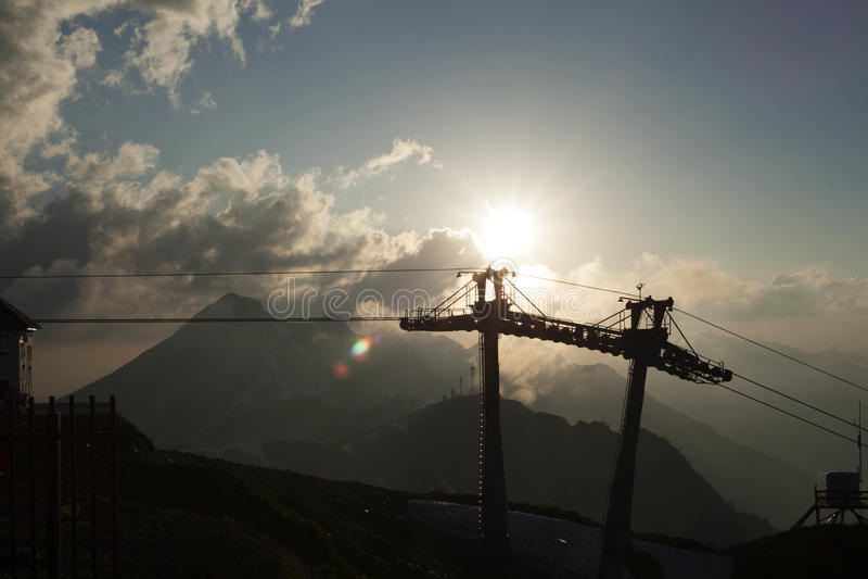 Cableway στοκ φωτογραφία με δικαίωμα ελεύθερης χρήσης
