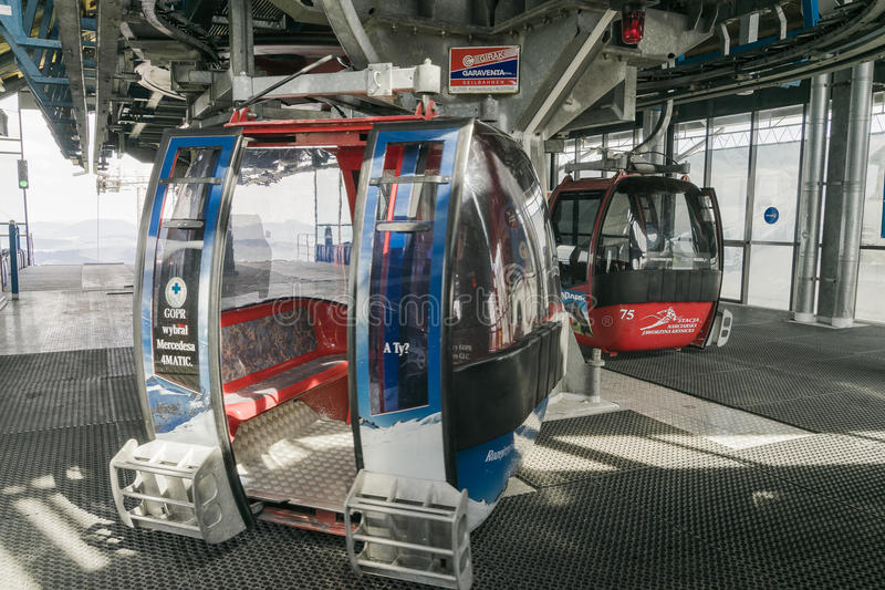 Cableway high station stock images