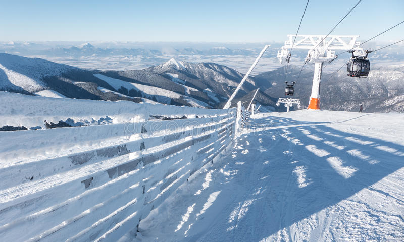 Cableway in Low Tatras, Slovakia stock image