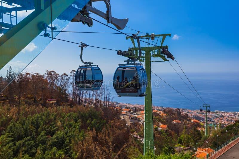 Cableway Monte w Funchal - madera Portugalia zdjęcie stock