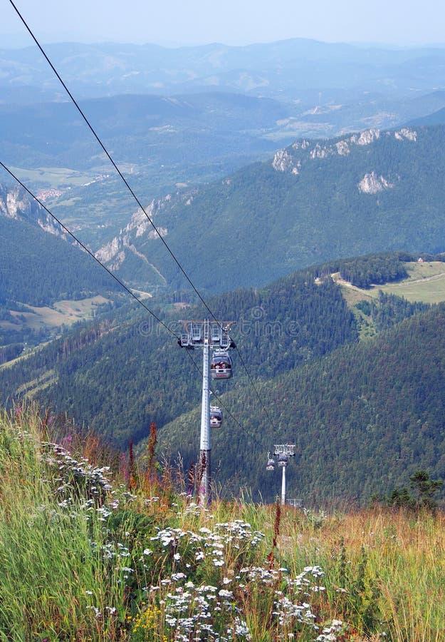 Cableway na Chleb górze, Sistani obraz stock