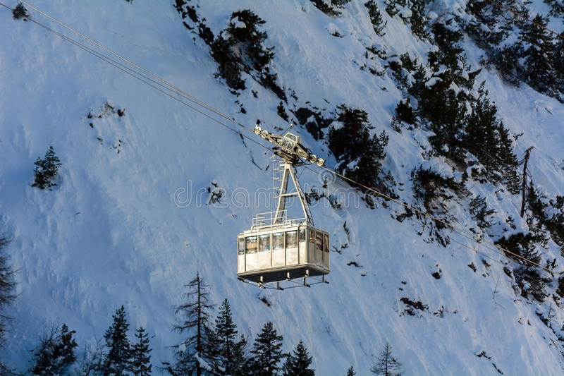 Download Cableway for skiers stock photo. Image of transport, trolley - 36888726
