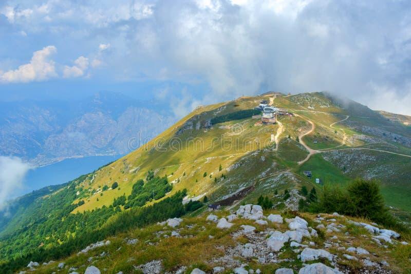Cableway station on Monte Baldo, Malcesine - Italy. Cableway station on Monte Baldo, Malcesine, Lago di Garda, Trentino - Italy stock image