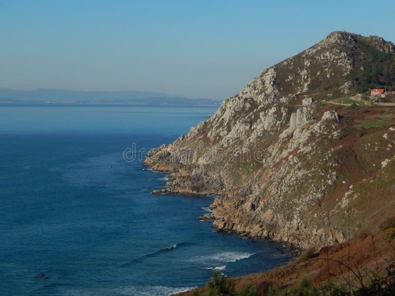 Cabo家,加利西亚,西班牙 欧洲 海岸视图 免版税库存照片