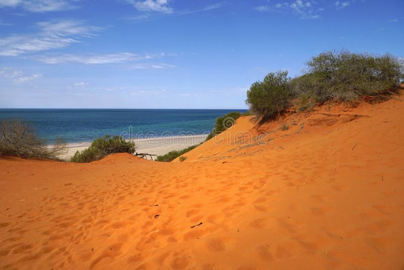 cabo alaranjado Peron das dunas de areia imagem de stock royalty free
