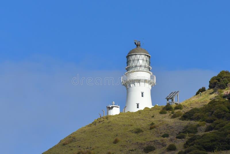 Cabo Brett Lighthouse en la bahía de las islas, Nueva Zelanda fotografía de archivo libre de regalías