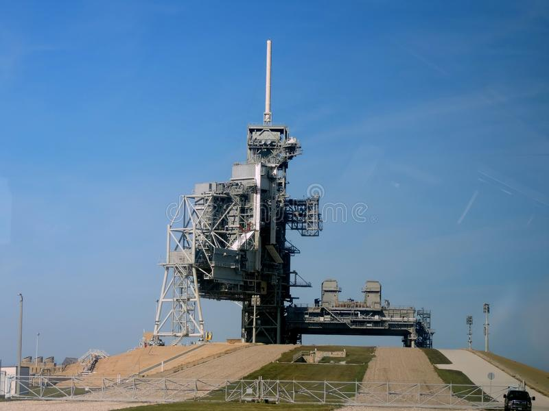 Cabo Canaveral, Flórida - Complexo de Lançamento do Centro Espacial Kennedy da NASA 39 fotografia de stock royalty free