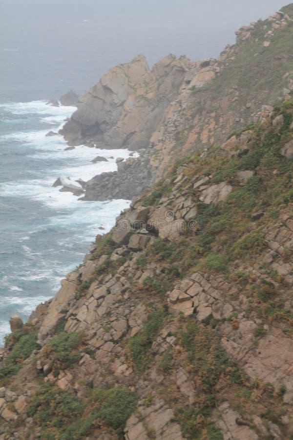 Cabo da Estaca de Bares, Mañón, A Coruña ( Spain ). Punta de Estaca de Bares is the northernmost point of the Iberian Peninsula. Conventionally, it stock image