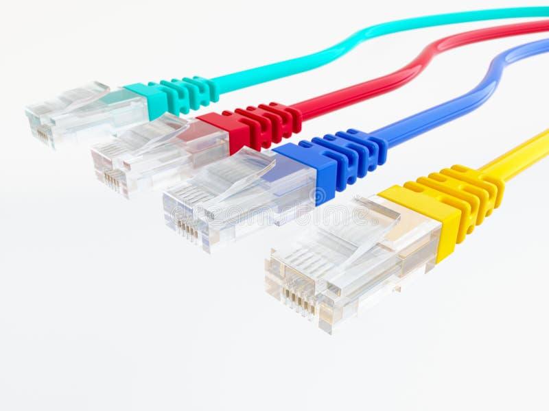Cabo da rede Ethernet - rendição 3D fotografia de stock