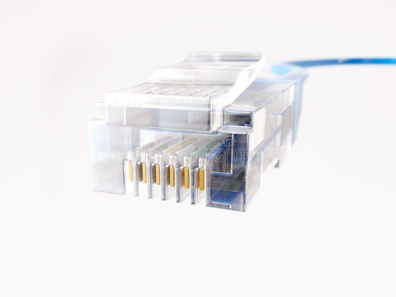 Cabo da rede Ethernet - rendição 3D foto de stock royalty free