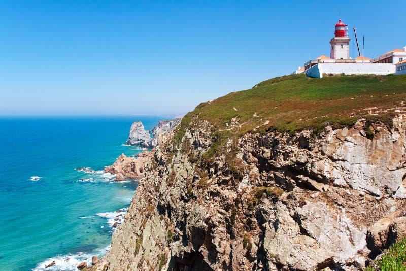 Cabo da Roca (capo Roca) Sintra, Portogallo fotografia stock libera da diritti