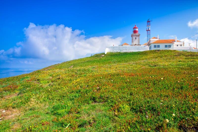 Cabo DA Roca et le phare images stock