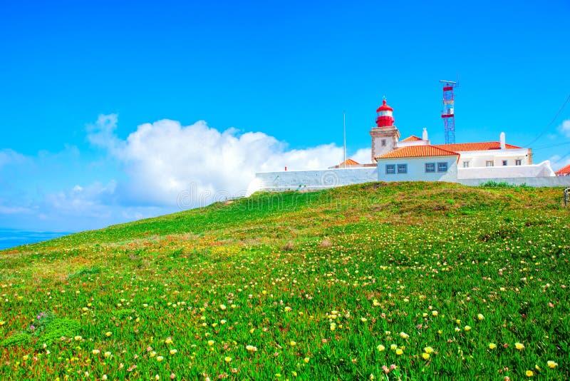 Cabo DA Roca et le phare photos stock