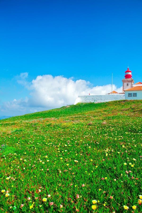 Cabo DA Roca et le phare photo stock